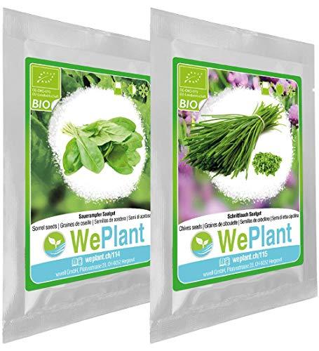 BIO Oseille & Ciboulette - Graines de plantes aromatiques/Intérieur & Extérieur