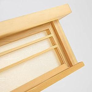 LYXG Giapponese di luce a soffitto solido LED lampade di Wood tatami lampade a luce giapponese soggiorno luminoso (350mm*350mm*120mm) camera da letto balcone logs