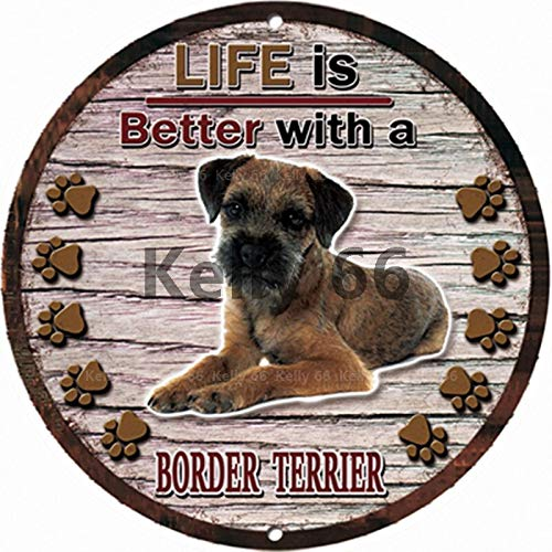 ivAZW Metal Poster Tin Sign Plaque Nostalgic-Art Iron Painting Dogs Vintage Irregular Wall Art Decor Retro 30X30 R-1042