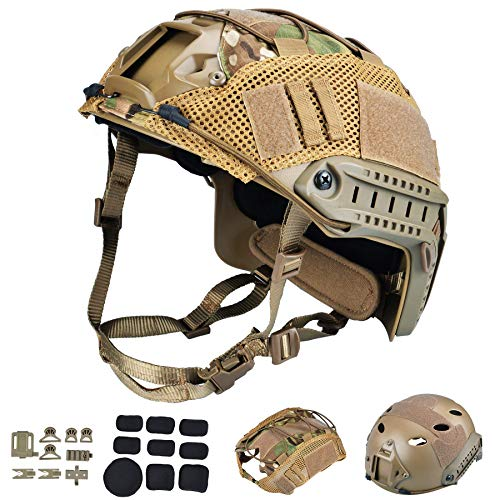 ActionUnion Tactical Airsoft Paintball Fast Helmet with...