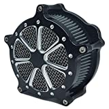 Motorcycle Turbine Air Cleaner Intake Filter Kit...