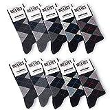 10 Paar Socken von Mat & Vic's für Sie und Ihn - Cotton classic Socks, gekämmte Baumwolle, ohne drückende Naht, Komfortbund, OEKO-TEX Standard 100 (Black Collection, Gr. 39-42) 39-42