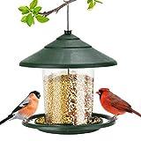 IWNTWY Comedero para pájaros, para colgar en el exterior para decoración de jardín al aire libre, con forma de carpa