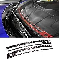 カーボンファイバーダッシュボードエアベントアウトレットトリムスバルBRZトヨタ86 2013-2020 (Black)