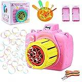 aovowog Máquina de Burbujas, Máquina Bubble Máquina automática Maquina Pompas Jabon Bubble Blower Bubble Maker Soplador de Pompas de Jabón para Fiestas, Cumpleaños, Bodas (Random Color)
