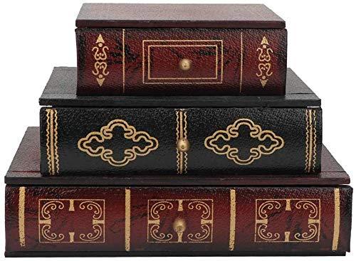 CLQ Schubladenbox, Retro Buchform...