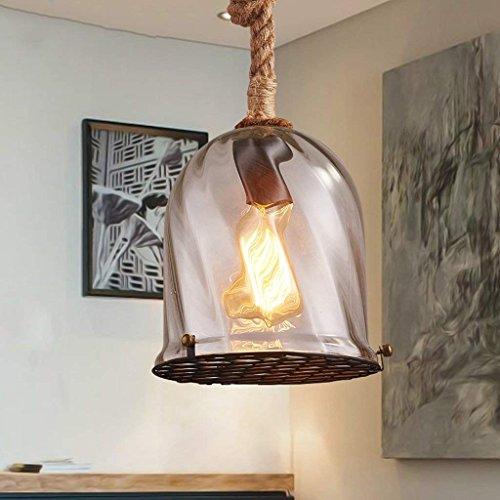 DSJ kroonluchter Nordic bar restaurant kroonluchter bar creatieve retro CAF Eacute; eenvoudige glazen lamp-kandelaar