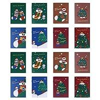 NUOBESTY 50Pcsクリスマスポケットノートソフトカバー漫画クリスマスツリーストッキングジャーナルメモ帳スクラップブック旅行日記スタッファーギフト用のライティングパッド(混合色)