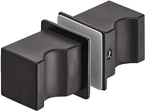 Gedotec Roestvrij stalen douchedeurknop zwart glazen deurgreep vierkant voor douchedeuren - H10181 | douchecabine-knop om ...