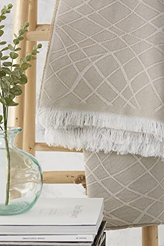 Textilhome - Funda Multiusos Foulard Cubre Cama Martina - 180x285 cm - para Funda Sofa 2 Plazas, Protector Cubre Sofa. Color Camel