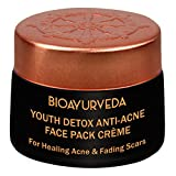 BIOAYURVEDA Youth Detox Anti-Acne Face Pack Cream-Deep Detoxifying Cleansing Brightening All Type Skin