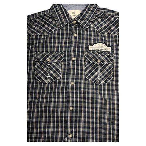 41481 camicia SCOTCH & SODA AMSTERDAM manica corta camicie uomo shirt men...