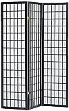 Milton Greens Stars 3-Panel Sam Room Divider, Black