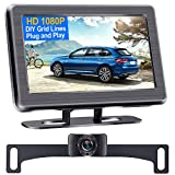 DoHonest S01 HD 1080P Backup Camera with 4.3 Inch Monitor Kit, Easy Installation for Cars,Trucks,SUVs,Vans IP69 Waterproof Super Night Vision Guide Lines DIY Driving/Reversing Use