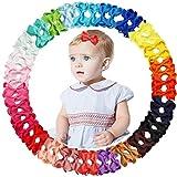 JOYOYO 50 clips para el pelo del bebé, lazos de 5 cm, lazos para el pelo del bebé, con cubierta de cinta completa, antideslizantes, para bebés y niños pequeños