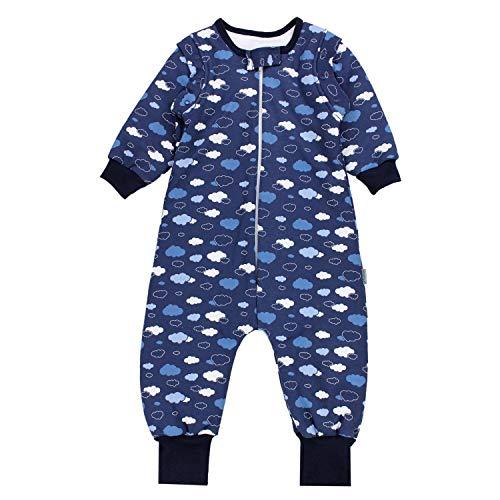TupTam Saco de Dormir con Mangas y Piernas Bebés 2.5 TOG, Nubes Azul Oscuro, 80-86