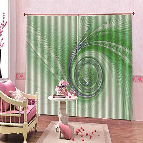Vortex thermo-isolerend gordijn, ondoorzichtig, thermogroen, modern, voor slaapkamer, keuken, kinderen, verduistering, raamdecoratie