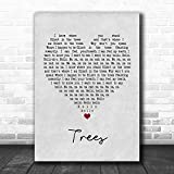 Bendrouka #Twenty #One #Pilots Trees Grey Heart Quote Song Lyric Poster Wall Art Home Decor Gifts for Lovers Painting