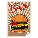 Postereck - 1127 - Hot Burger, Hamburger Essen Vintage Fast