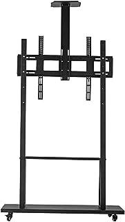 BKWJ Stands de téléviseur de 50 à 100 pouces sur roues, LA TÉLÉ Risant LA TÉLÉ Supports, stands et platines de platine, su...