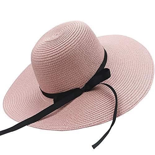 Sombrero Para el Sol Para Mujer, Gorra de Paja para Mujer Sombrero Plegable Sombrero Ancho de ala Ancha Sombrero para El Sol Sombreros de Playa de Verano Protección UV