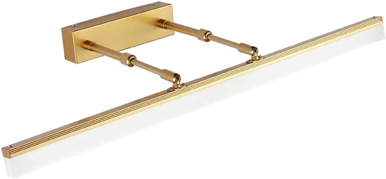 SCJ Badezimmerspiegelleuchten Spiegelfrontleuchte LED-Spiegelschrankleuchte Badezimmerwasserdicht Anti-Beschlag Einfache Wandleuchte Make-up-Lampe Schminktischlampe (Farbe  Weilicht, Gre  40C