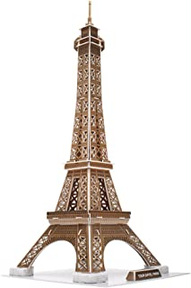 CubicFun 3D Puzzles Paris Souvenirs Paper Craft Kits Toys for Adults and Teens GIFS, Eiffel Tower, 71 Pieces