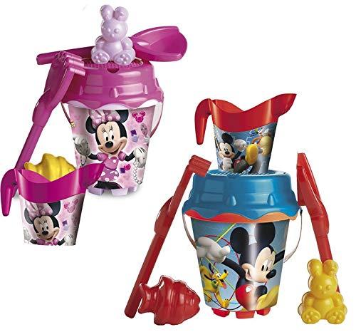 UNICE Set cubo castillo Mickey Mouse/ Minnie Mouse de 18 cm