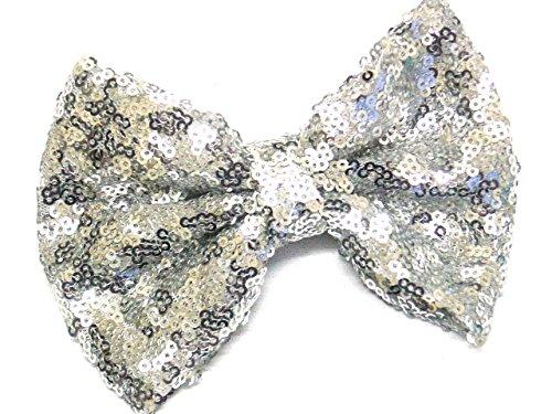 La Pêche Fashions NEUF Superbe brillant Sequins Tissu Nœud sur 2 Pinces Clip Lovely Couleurs Cheveux Nœud Pince à cheveux Slide nœuds Taille 12 cm.