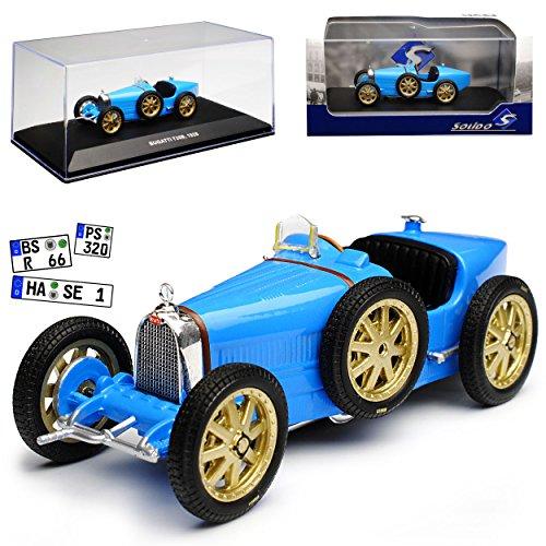 Solido Bugatti T35B Blau 1928 1/43 Modell Auto