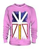 Candymix–Terranova y Labrador Bandera de Grunge–Sudadera unisex para hombre Mujer Suéter Jersey Top Rosa Candyfloss XX-Large