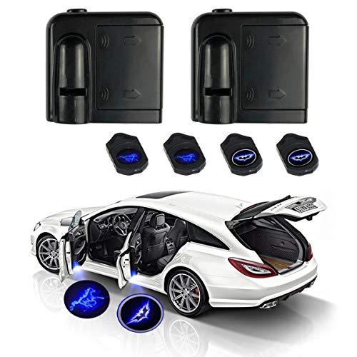 Blaulicht fürs Auto 12V Wireless LED Laser Projektor Universal für Ambientebeleuchtung Türbeleuchtung Einstiegsleuchte Projektion Licht(2er-Pack)