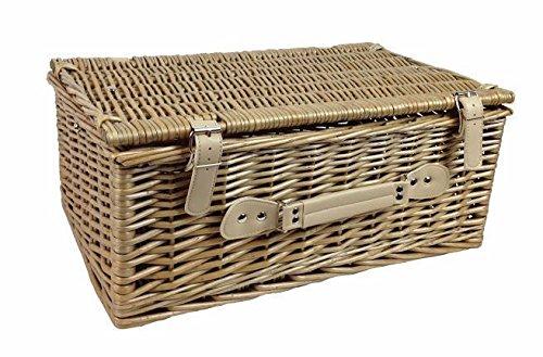 Red Hamper Wicker Willow 45cm Antique Wash Picnic Basket