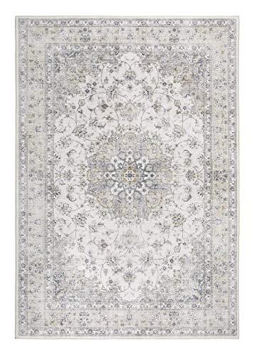 Amazon Marke - Movian Designteppich Prima, Vintageteppich, hochwertig gewebt Creme, 160 x 230 cm 702433