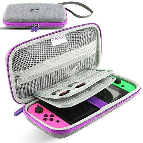 CRex Gaming s Nintendo Switch Travel Carrying Case Will Keep Your Switch Safe and Protected, This Carry Case Stores 16 Games Designed in Gray Purple Pink
