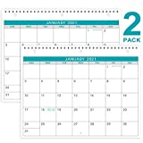 2021 Calendar - 2 Pack Monthly Wall/Desk Calendar, Generous Memo Lined Pages with A4 Premium Thick Paper,...