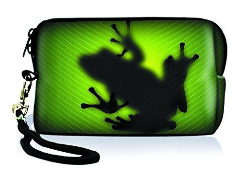 Silent Monsters 1005002006neoprene universale fotocamera borsa per fotocamera compatta verde Frog