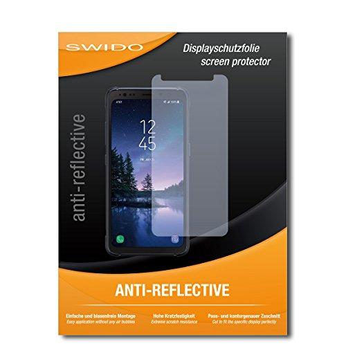 SWIDO Schutzfolie für Samsung Galaxy S8 Active [2 Stück] Anti-Reflex MATT Entspiegelnd, Hoher Festigkeitgrad, Schutz vor Kratzer/Bildschirmschutz, Bildschirmschutzfolie, Panzerglas-Folie