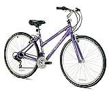 Kent International Women's Avondale Hybrid Bicycle with Sure Stop Brakes, 11.25', Black