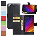 MAXKU Xiaomi Mi 5c case, Premium PU Leather Flip Cover