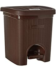 Signoraware Modern Lightweight Dustbin for Home and Office 12Ltr, Brown