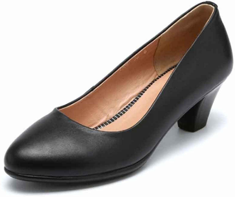 LIURUIJIA Women's Classic Slip On Round-Toe Low Kitten Heel Wedding Dress Pumps shoesGL-ZP001