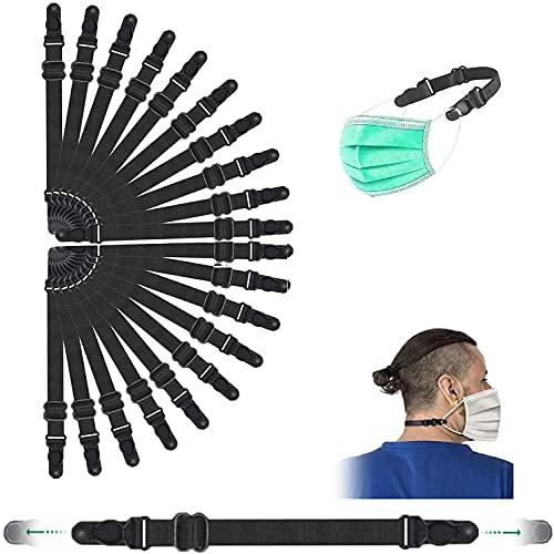 20 Stück Maskenhalter, MiuCo elastische Maskenhalterung zur Entlastung der Ohren über Nacken und Hinterkopf Zur Verlängerung der Mundschutzhalter, Rutschfester Verlängerungsgurt