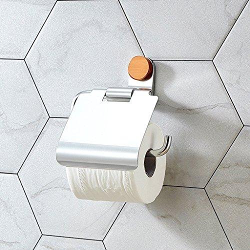 YASEking De Aluminio del Espacio de Papel Grueso sostenedor de la Toalla de Papel higiénico Titular de baño WC Portarrollos de Papel higiénico Titular