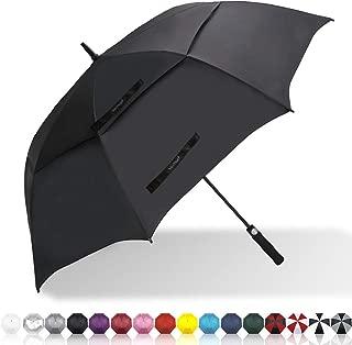 Vedouci 10 Ribs Compact Travel Umbrella with Teflon Coating, Windproof Automatic Umbrellas with Black Glue Anti UV Coating Folding Umbrellas for Women Men, Auto Open Close, Black