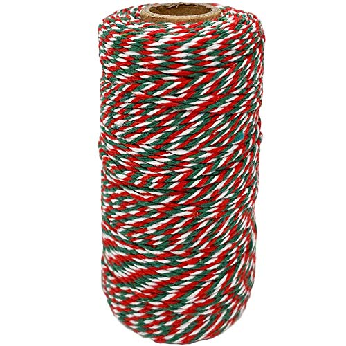 Green Red and White Baker String