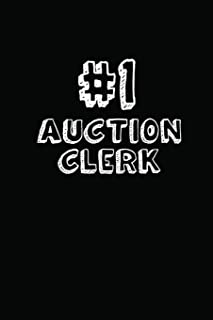 #1 Auction Clerk: Blank Lined Composition Notebook Journals to Write In
