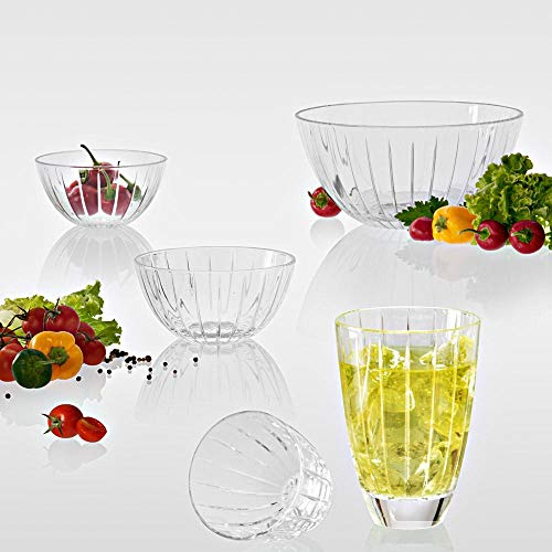 Buy Vidivi Crystal Clear High Brilliance Lead Free Glass Accademia Serving Salad Dessert Mixing Container Bowl Made In Italy Online At Low Prices In India Amazon In