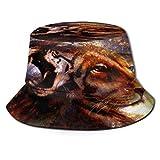 Fodmua, cappello da sole unisex a forma di leone e tigre, a tesa larga, protezione solare per esterni, per camminare, pescatore, per uomini e donne, giovani, colore: 1