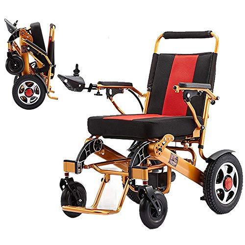 ZKORN Elektrorollstuhl, zusammenklappbarer tragbarer Elektrorollstuhl Leichter Trage-Elektrorollstuhl Roller 24V 20Ah Li-Ionen-Batterie 250W * 2 Elektromotorischer Rollstuhl mit Zwei Mot